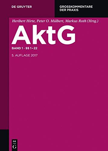 Einleitung; §§ 1-22 (Großkommentare der Praxis) (German Edition ...