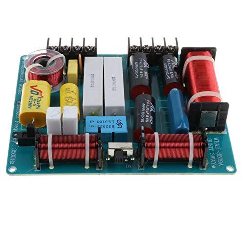 H HILABEE 3-Wege Bass Audio Frequenzteiler Frequenzweiche Modul für Lautsprecher -