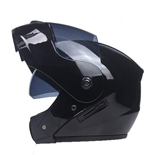 OLEEKA Caschi moto Dual Visor di Modular Flip Up Racing Lenti doppie Proteggono gli occhi e il viso per le persone Multi-sport Activitie