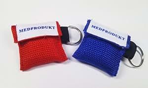 Medprodukt Beatmungstuch im Schlüsselanhänger hochwertige Nylontasche