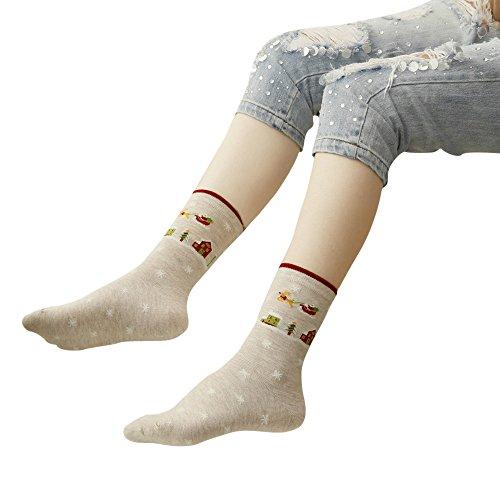LianMengMVP Chaussettes Noël Hommes Chaussettes Femme, 3D Modèles de Noël Noel Santa Chaussettes Set pour Homme Femme Enfant