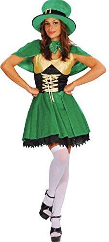 Lucky Leprechaun Adults Fancy Dress Ladies Outfit - Ladies Fancy Dress Kostüm Größe 20