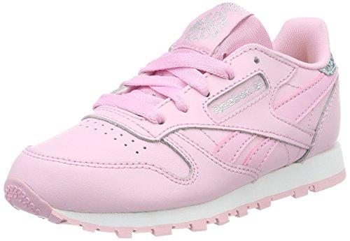 Reebok Mädchen Classic Leather Pastel PS Sneaker, Pink (Charming Pink/White), 34 EU (Für Mädchen Nina Schuhe)