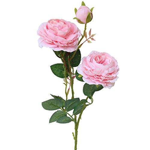 Xinxinyu Künstliche Blumen { Unechte Blumen Seide Pflanze } { Westliche Rose Strauß } Zuhause Garten Hochzeit Dekor (Pink)