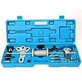 FreeTec 17 pezzi. Estrattore mozzi ruota cuscinetto estrattore mozzi ruota set estrattore cuscinetto ruota strumento con martello scorrevole