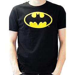 Batman Batman logo - Camiseta para hombre, color negro, talla XL
