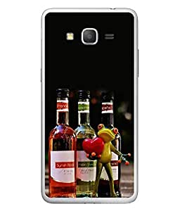 FUSON Designer Back Case Cover for Samsung Galaxy Grand 3 :: Samsung Galaxy Grand Max G720F (Party Enjoy Crazy Wine Bottle Glass With Wine)