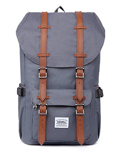 epäckrucksack Herren KAUKKO Backpack Schulrucksack KAUKKO 17 Zoll Laptop Rucksack für 15
