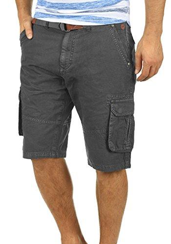 BLEND Renji Herren Cargo-Shorts kurze Hose mit Taschen aus 100% Baumwolle, Größe:XXL, Farbe:Phantom Grey (70010)