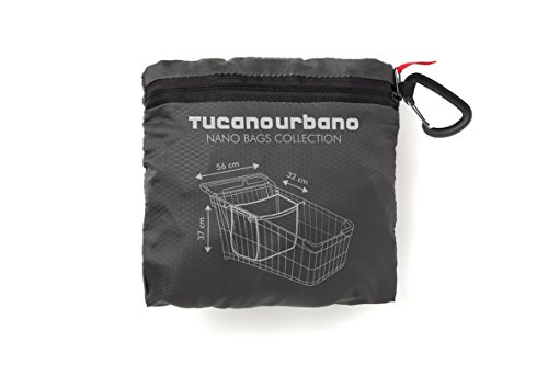 Tucano Urbano 477NT Nano Family Shopper Bag - Water-Repellent, super-compact Shopping cart Bag, Schwarz Titanium, Einzig Groesse -