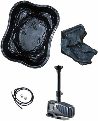 Sicce Teich Komplett Set Happy pond 3, Schwarz, 400 L