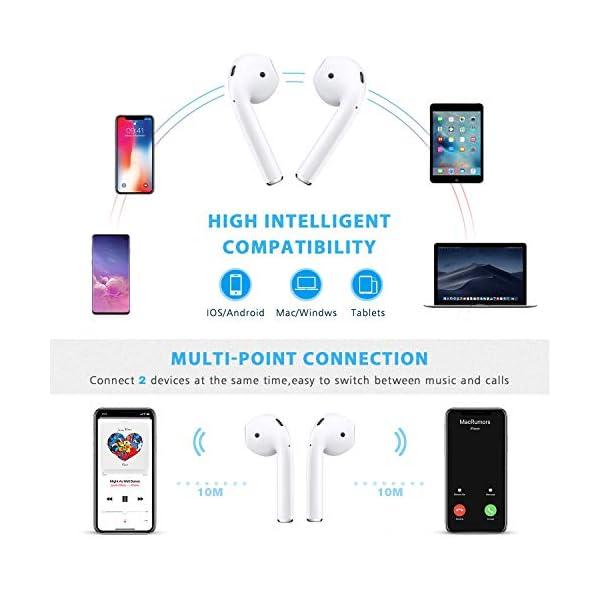 Smartwatch Reloj Resistente Hombre Mujer Niños Monitor Pulso Cardiaco Pulsera Actividad Reloj Inteligente Cardio Podómetro Bluetooth Reloj Deportivo Rastreadores Cronómetro para Android iOS(Negro) 6