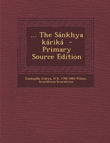 ... The Sánkhya káriká