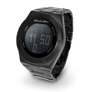 Black Dice BD 061 02 - Reloj digital de caballero de cuarzo con correa de acero inoxidable negra de Black Dice