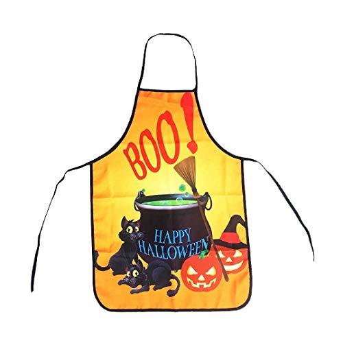 Halloween-Schürze-Halloween-Dekorationen Lustige Schürzen,B-OneSize