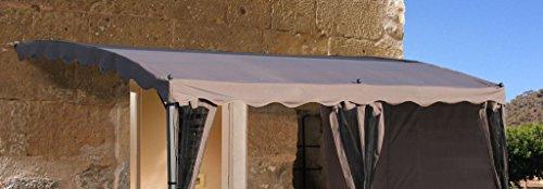 Ersatzdach Anbau Pergola Mallorca - Taupe