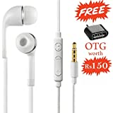 Crispy Xiaomi Mi Redmi Note 4A / 4 / 4 A / Xiaomi Mi Redmi Note 3S Compatible In- Ear Stereo Surround Bass + 8 Channel Headphone / Hands Free / Headset With Mic And Volume Controller | Great Sound Quality Works With Other MP3 Players, Mobiles, Laptops Als