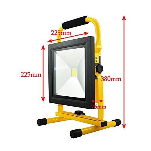 VINGO® LED Lampe Fluter mit AKKU Strahler handlampe 50w Baustrahler 4500LM Wiederaufladbare Scheinwerfer Lampe 4400MA Kaltweiß