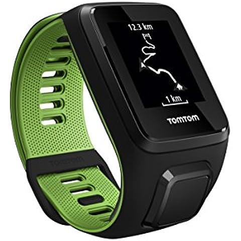 TomTom RUNNER 3 - Reloj deportivo Negro/verde (Talla pequeña)