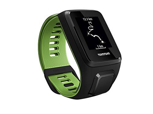 TomTom RUNNER 3 Cardio+Music - Reloj deportivo Negro/Verde (Talla Gran