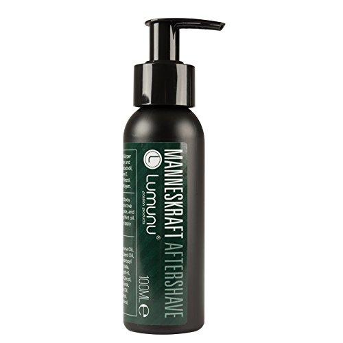 Deluxe Aftershave Lotion für Ihn MANNESKRAFT (100ml), kühlendes After Shave Balsam für Gesicht & Körper mit pflegendem Jojoba, Urea & Vitamin E