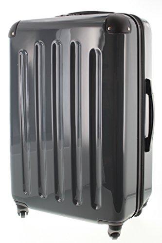 Pianeta Berlin Gr. L ABS Polykarbonat Mix Hartschalen Koffer Trolley mit 4 Rollen und TSA Zahlenschloss 5 Farben (grau)
