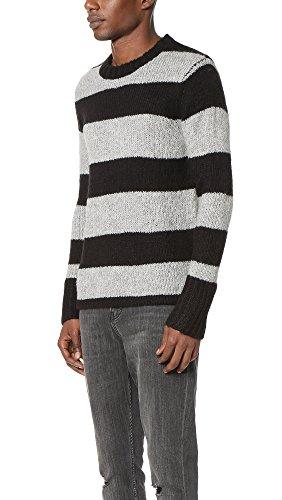Cheap Monday Men's Caught Knit Wide Stripe Men's Pullover Striped