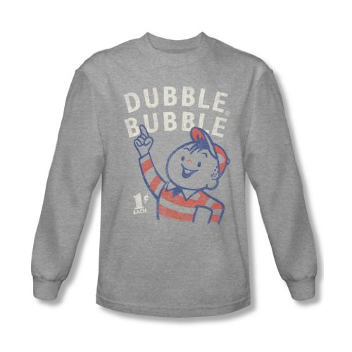 Dubble Bubble - Herren Zeige Langarm T-Shirt Heather