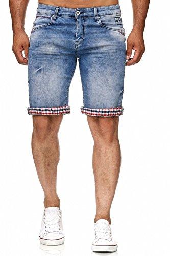 24ed4153c8a74 Rusty Neal Kurze Denim Herrenhose Hose Jeans Vintage Destroyed Bermuda  Shorts A1-RN-13601