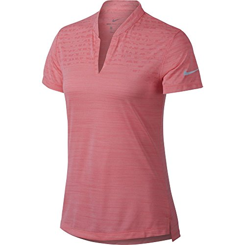 Nike Damen Poloshirt W Nk Znl Cl Ss Sp Jqrd, Pink (Rosa 686), XS