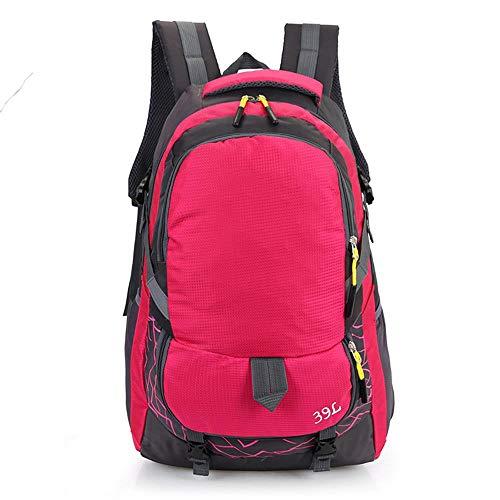 youcai Zaino Classico Donna Uomo Escursionismo da Campeggio di Alta qualità per Il Tempo Libero da Trekkg Alpismo da Campeggio Rosa Rosso 39 Litri