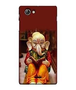 PrintVisa Designer Back Case Cover for Sony Xperia SL :: Sony Xperia S :: Sony Xperia SL LT26I LT26ii (Religious Lord Ganesha Sit On Floor Wearing Specs Bhagwan Spritual)