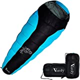 Voroly Waterproof Mummy Sleeping Bag for 3 Season Camping Hiking Traveling Backpacking and Outdoor for Men and Women