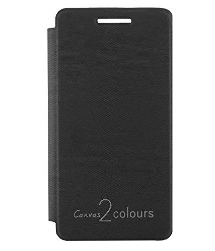 TBZ Flip Cover Case -Black for Micromax Canvas 2 Colours A120