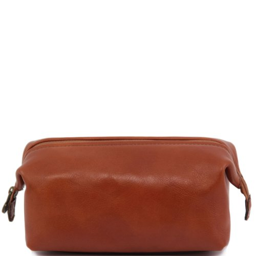 Tuscany Leather Leder Herren-Kulturbeutel-Honig -