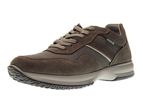 Enval soft 12102 Asfalto Scarpa Uomo Sneaker Pelle e Tessuto Made In Italy