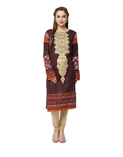 Yepme Candice Semi Stitched Pakistani Kurti - Brown -- YPMRTS0377_Free Size