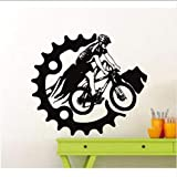 Chellonm Mountainbike Fahrrad Teenager Jungen Sport Wand Dekoration Vinyl Aufkleber Wandaufkleber 57 * 50 Cm