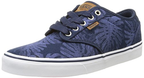 Vans Atwood Deluxe, Baskets Basses Homme Bleu (Palm Leaf/Blue/White)
