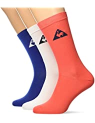 Le Coq Sportif ESS SP Color 3 Crew Mazarine/Opt.W Socks Mixta, ESS SP COLOR 3 Crew Socks Mazarine/opt.w, Mazarine/Optical white, FR : 43/46 (Taille Fabricant : 43/46)