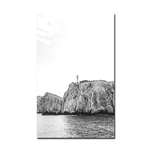 SCLPOSTER Poster NordicPaintings Bild Berglandschaft Wandkunst Leinwand Malerei Kirchengemälde Bild und drucke Wandbilder für Wohnzimmer Wohnkultur a 40x50cm -