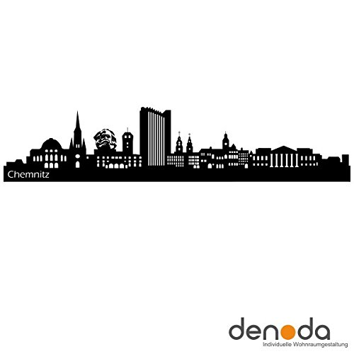 denoda Chemnitz Skyline – Wandtattoo (Wandsticker Wanddekoration Wohndeko Wohnzimmer Kinderzimmer Schlafzimmer Wand Aufkleber)