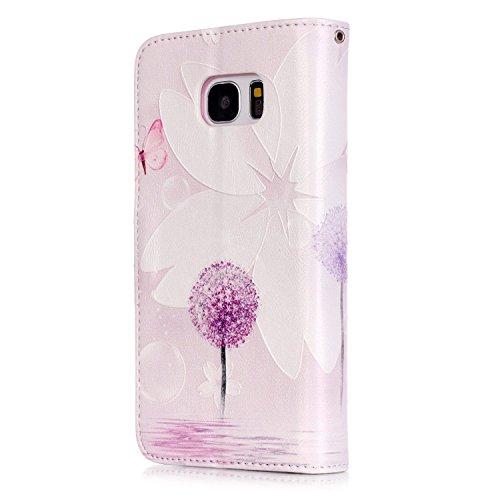 Hülle für Samsung Galaxy S7 Edge Schmetterling,TOCASO Glitter Strass Bling Ledertasche Muster Weich PU Schutzhülle für Samsung Galaxy S7 Edge Flip Cover Wallet Case Tasche Handyhülle mit Lanyard Strap #12#