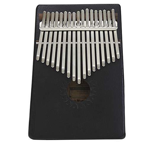 Exquisit 17-key Bambus Kalimba Daumen Klavier Mbira Sanza Mit Tragetasche Musikbuch Aufkleber Stimmhammer Musikalisches Geschenk (Farbe: Schwarz, Blau, Rot Optional)