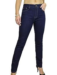 ICE (1528) Jeans en Denim Extensible Fluide Sombre