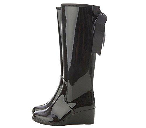 OCHENTA Bottes de pluie Waterproof compensees Noir