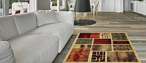 Brown Ivory-teppich (Maxy Home Hamam Collection Gummi Rückseite Rahmen Bereich Teppiche Modern 18