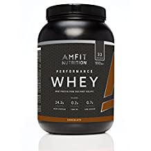 Amazon-Marke: Amfit Nutrition Performance Whey Protein Isolate Eiweißpulver (100% Molkenisolate) mit Schokogeschmack, 33 Portionen, 990 g