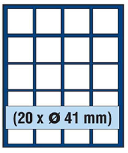 Silber 20 Dollar (SAFE MÜNZBOX NOVA Nr. 6341 - 20 x 41 mm QUADRATISCHE FÄCHER - IDEAL FÜR 1 DOLLAR US SILBER EAGLE- 5 $ CANADA Dollar MEAPLE LEAF - 500 ÖS SCHILLINGE - 5 MARK Dt. KAISERREICH - Münzen in Münzkapseln bis Caps 35 mm Münzen bis zu einem Durchmesser von 41 mm - Münzenboxen - Münzboxen - Münzelemente)