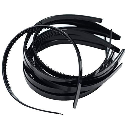 10 Stück Kunststoff Stirnband DIY Haar Band Haarband Haarreif mit Zähnen für Männer und Damen